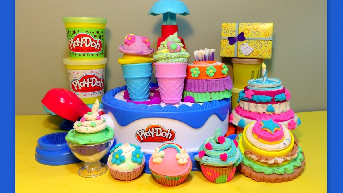 Play Doh Ice Cream And Cake Shop